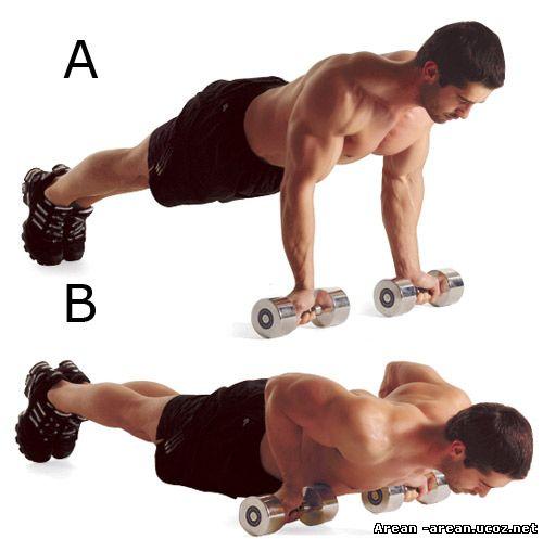 Как накачать грудные мышцы Отжимания от пола - Chest. Программа отжиманий